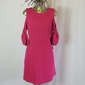 CHELSEA28 PINK COLD SHOULDER DRESS